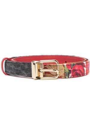 Dolce & Gabbana Cinturón con motivo de rosas