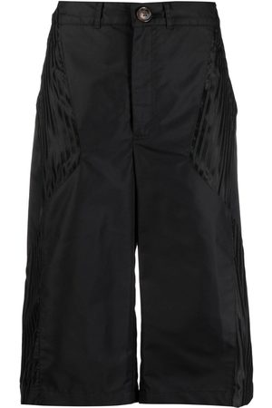 Marine Serre Mujer Shorts - Shorts con paneles en contraste
