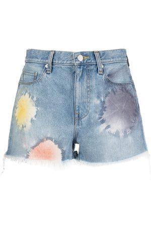 JOHN ELLIOTT Mujer De mezclilla - Shorts de mezclilla Shibori Bloom