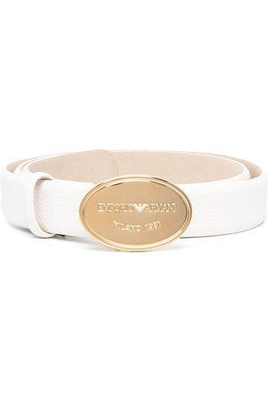 Emporio Armani Mujer Cinturones - Cinturón con hebilla y logo grabado