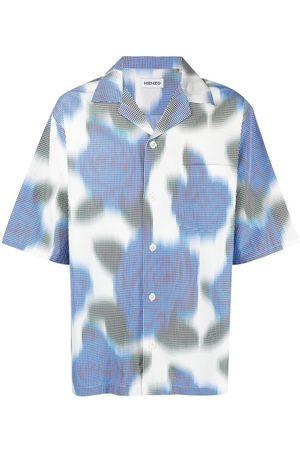 Kenzo Camisa con estampado floral pixelado