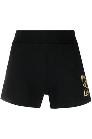 EA7 Mujer Shorts - Shorts ajustados con logo