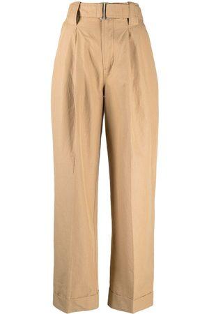 Ganni Mujer Anchos y de harem - Pantalones anchos con pinzas