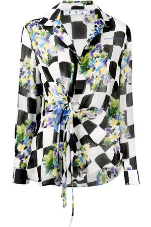 OFF-WHITE Mujer Camisas - Camisa floral a cuadros