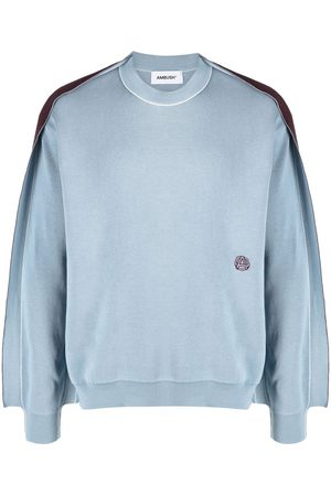AMBUSH Hombre Suéteres - Suéter de tejido fino con paneles