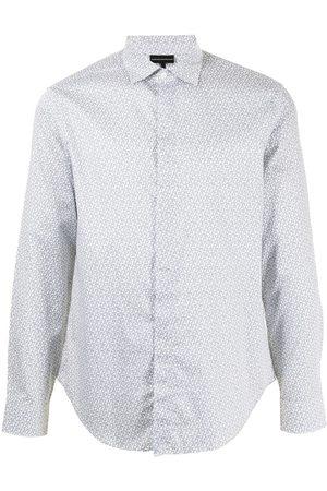 Emporio Armani Hombre Camisas - Camisa con logo estampado