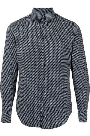 Armani Hombre Camisas - Camisa con estampado en zigzag