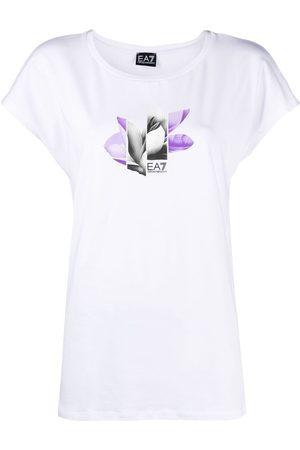 EA7 Mujer Playeras - Playera con estampado floral