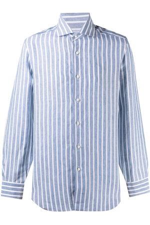 BARBA Camisa con estampado de rayas