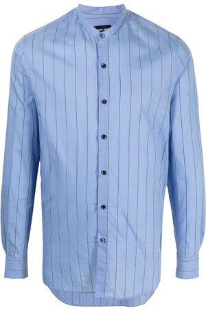 Armani Camisa a rayas sin cuello