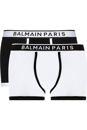 Balmain Pack de dos piezas de ropa interior con logo