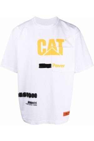 Heron Preston CAT TEE SS REG PKT POWER WHITE YELLOW