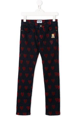 Moschino Jeans con motivo de corazones