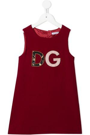 Dolce & Gabbana Kids Vestido con parche del logo