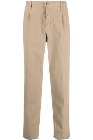 Incotex Pantalones rectos con placa del logo