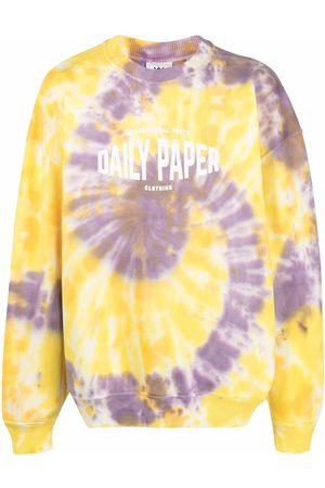 Daily paper Sudadera con estampado tie-dye de x Newseum