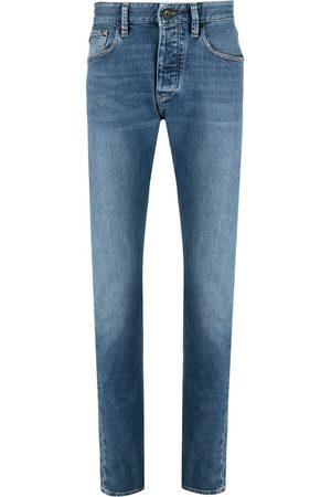 Emporio Armani Hombre Rectos - Jeans rectos con tiro medio