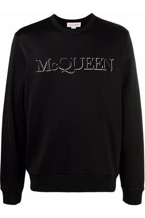 Alexander McQueen Sudadera con logo bordado