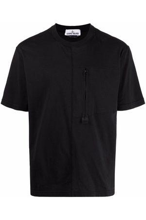 Stone Island Hombre Playeras - Camisa con bolsillo y cierre