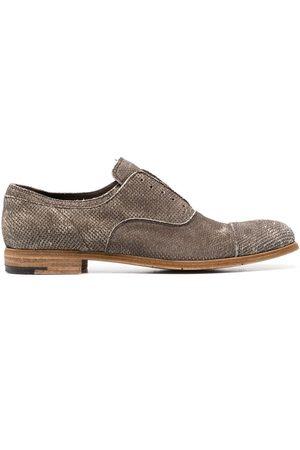 Premiata Hombre Oxford - Zapatos oxford con efecto envejecido