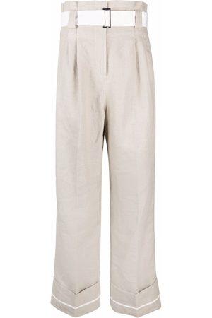 Ganni Pantalones anchos con pinzas