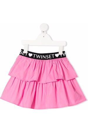 TWINSET Kids Falda con volantes y banda con logo