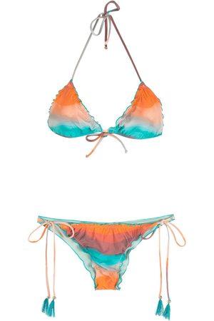 Brigitte Bikini con bordes festoneados