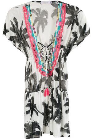 Brigitte Jumpsuit con estampado de palmeras