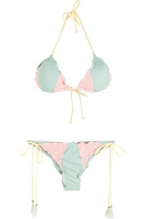 Brigitte Mujer Bikinis - Bikini estilo triángulo tricolor
