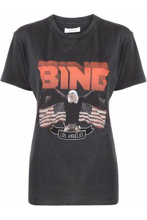ANINE BING Camiseta con logo estampado