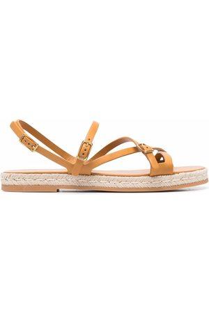 Tod's Raffia sole strappy sandals
