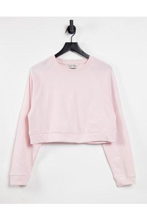 Miss Selfridge Pink Long Sleeve Crew Neck Sweatshirt