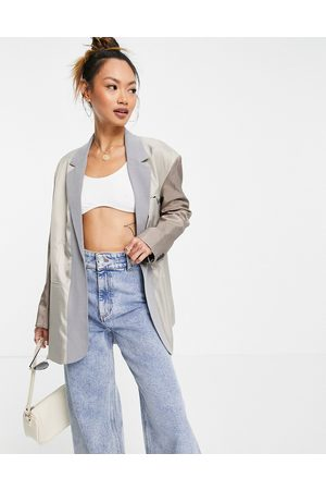 French Connection Oversize blazer in grey co ord
