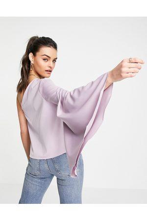 Pretty Lavish Rosie one shoulder blouse in lilac
