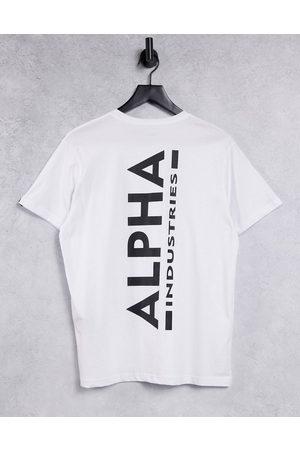 Alpha Industries Large vertical logo back print t