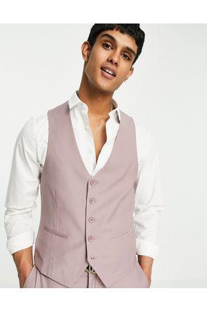 New Look Suit waistcoat in pale pink