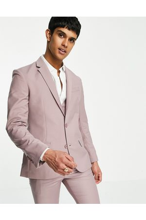 New Look Skinny suit jacket in pale pink