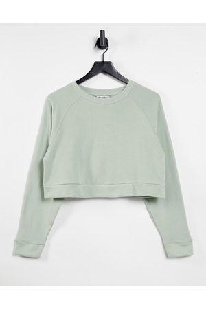 Miss Selfridge Sage Long Sleeve Crew Neck Sweatshirt