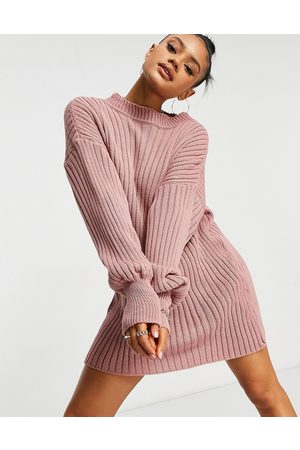I saw it first Knitted jumper dress in pink