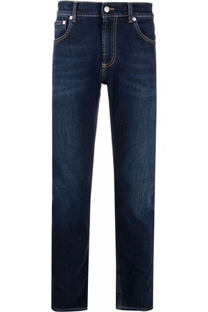 Alexander McQueen Hombre Skinny - Skinny jeans con logo bordado