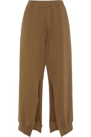 MM6 MAISON MARGIELA Mujer Pantalones - Pantalones Deportivos De Algodón Con Aberturas