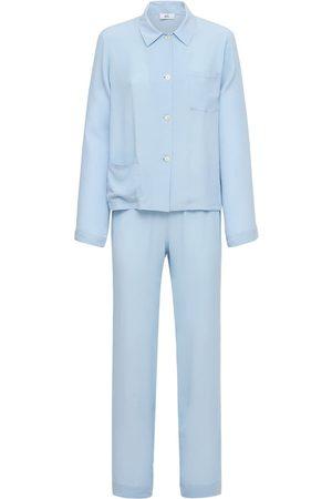 AG Mujer Conjuntos de lencería - Set De Pijama De Mezcla De Satén De Seda