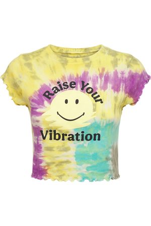 "YEAR OF OURS Mujer Playeras - Camiseta Corta ""rainbow"" Tie Dye"
