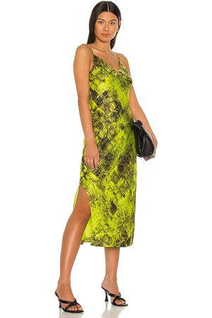 ALLSAINTS Vestido midi melody en color verde talla 0 en - Green. Talla 0 (también en 00, 2, 4, 6, 8, 10).