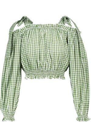 Alexandra Miro Mujer Crop tops - Exclusive to Mytheresa – Gingham cotton crop top