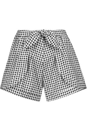 Alexandra Miro Mujer Estampados - Exclusive to Mytheresa – Natalia gingham cotton shorts