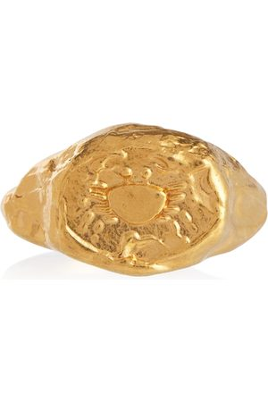 Alighieri Mujer Anillos - Cancer 24kt gold-plated signet ring