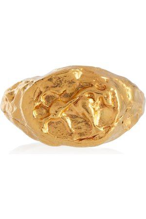 Alighieri Mujer Anillos - Taurus 24kt gold-plated signet ring