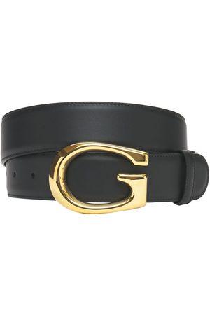 """Gucci Hombre Cinturones - Cinturón """"g"""" De Piel 4cm"""