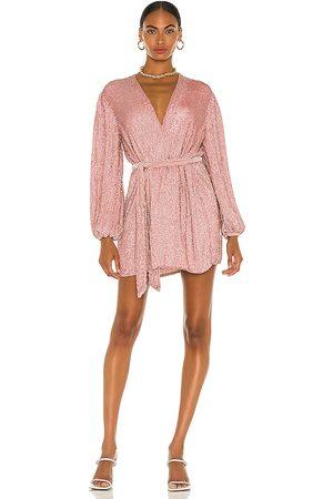 Retrofete Vestido gabrielle en color rosado talla L en - Pink. Talla L (también en XS, S, M, XL).